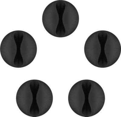 Range Câble goobay cable guide (1) noir x5