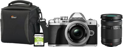 Appareil photo Hybride Olympus E-M10 III+14-42mm+40-150mm+Sac+SD16Go