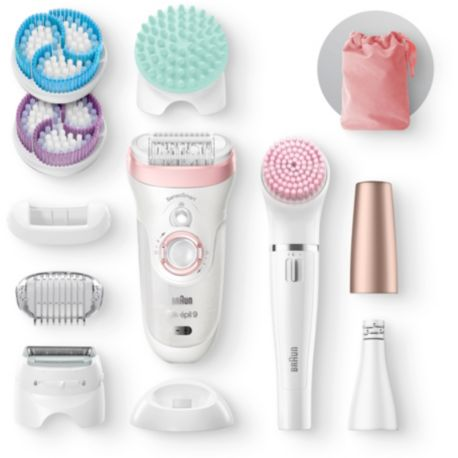Epilateur BRAUN Silk-épil 9-985 beauty set