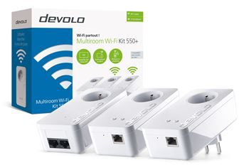 Cpl Devolo kit multiroom wifi 550+ blanc