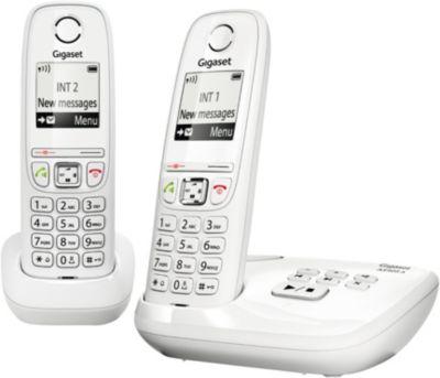gigaset as405a duo blanc t l phone sans fil boulanger. Black Bedroom Furniture Sets. Home Design Ideas