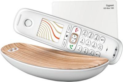 Téléphone sans fil Gigaset Sculpture CL750 Blanc Zebrano