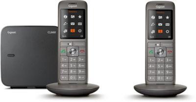 Téléphone sans fil Gigaset CL660 Duo Noir