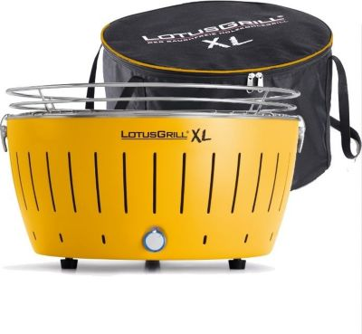 lotus grill jaune 43 cm barbecue charbon de bois boulanger. Black Bedroom Furniture Sets. Home Design Ideas