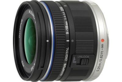 Obj OLYMPUS 9-18mm f/4.0-5.6 noir M.Zuiko