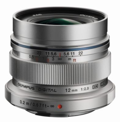 Objectif pour Hybride Olympus 12mm f/2 silver M.Zuiko