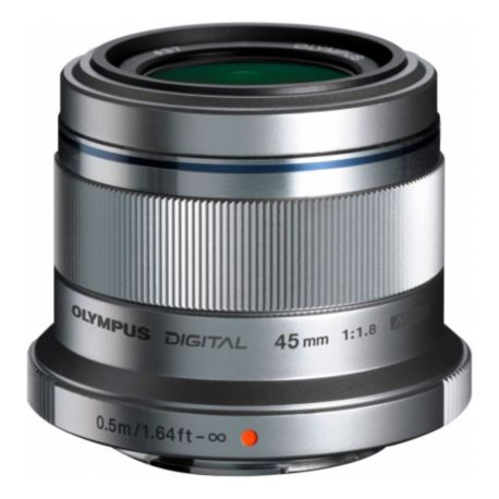 Objectif OLYMPUS 45mm f/1.8 silver M.Zuiko