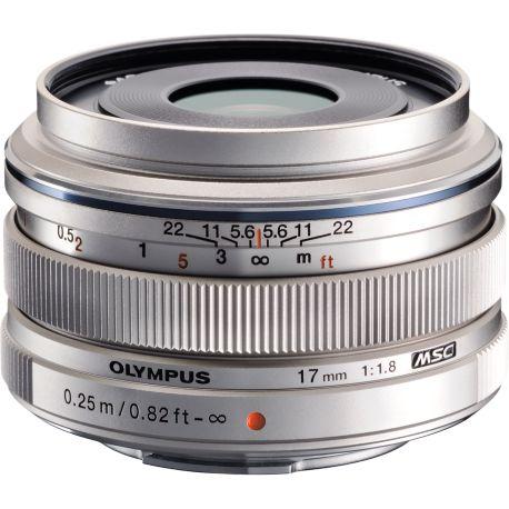 Objectif OLYMPUS 17mm f/1.8 silver M.Zuiko