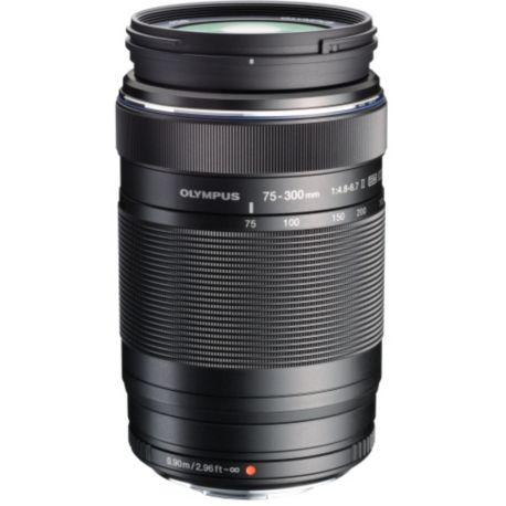 Objectif OLYMPUS 75-300mm f/4.8-6.7 II noir M.Zuiko