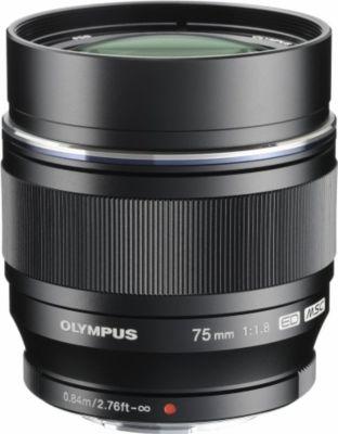 Objectif pour Hybride Olympus 75mm 1:1.8 noir