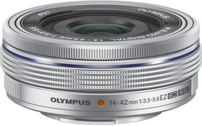 Objectif pour Hybride Olympus 14-42mm f/3.5-5.6 EZ silver Pancake