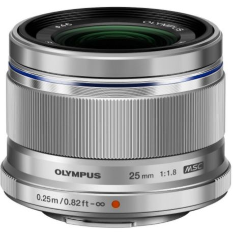 Objectif OLYMPUS 25mm f/1.8 silver M.Zuiko