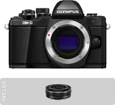 Appareil photo Hybride Olympus OM-D E-M10 Mark II Noir + 14-42mm EZ + Sac bandoulière Lollipops Photo GLITTERS