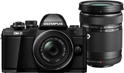 Appareil photo Hybride Olympus OM-D E-M10 II Noir +14-42mm EZ +40-150mm