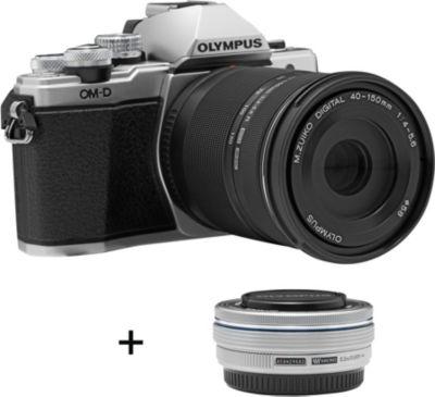 Appareil Photo hybride olympus om-D e-m10 ii silver + 14-42ez + 40-150