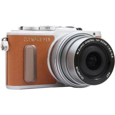 Appareil photo numérique OLYMPUS Pen E-PL8 marron + 14-42mm EZ