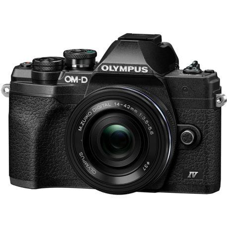 Appareil photo numérique OLYMPUS E-M10 Mark IV Pancake Zoom 14-42 EZ Noir