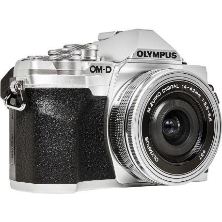 Appareil photo numérique OLYMPUS E-M10 MarkIV Pancake Zoom14-42 EZ Silver
