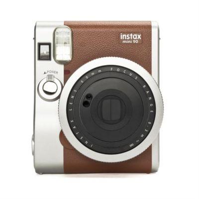 Appareil Photo instantané fuji instax mini 90 marron + papier photo instantané fuji film instax mini 10 poses