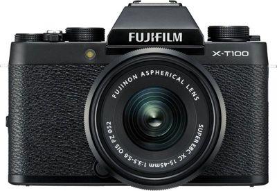 Appareil Photo hybride fuji x-T100 noir + xc15-45mm pz