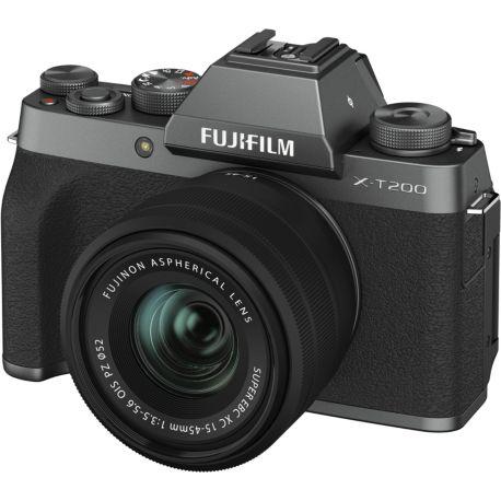 Appareil photo numérique FUJIFILM X-T200 Dark Silver + XC15-45mm