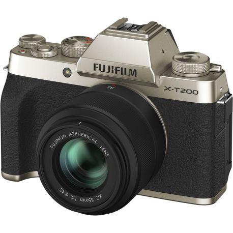 Appareil photo numérique FUJIFILM X-T200 Or + XC15-45mm