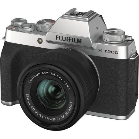 Appareil photo numérique FUJIFILM X-T200 Silver + XC15-45mm