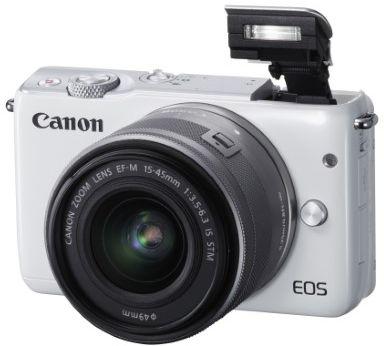 Appareil photo Hybride Canon EOS M10 Blanc + EF-M 15-45 Argent