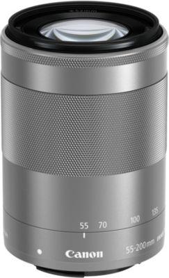 Objectif pour Hybride Canon EF-M 55-200mm argent f/4.5-6.3 IS STM