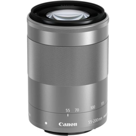 Objectif CANON EF-M 55-200mm argent f/4.5-6.3 IS STM