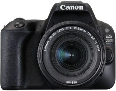 Appareil photo Reflex Canon EOS 200D Noir + 18-55mm IS STM