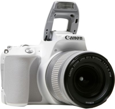 Appareil photo Reflex Canon EOS 200D Blanc + 18-55mm IS STM