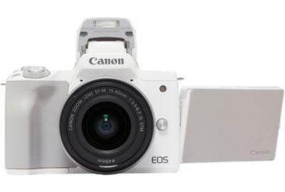 APN CANON EOS M50 Blanc + 15-45mm