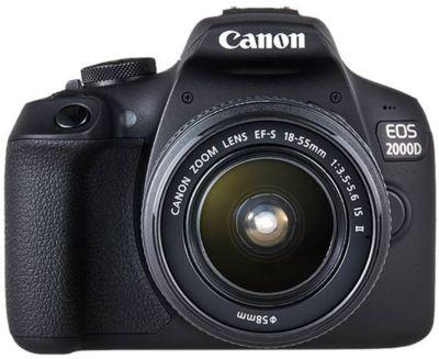 Appareil photo Reflex Canon EOS 2000D + EF-S 18-55 IS II