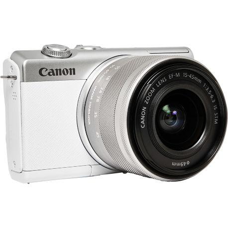 Appareil photo numérique CANON EOS M200 Blanc + EF-M 15-45mm IS STM