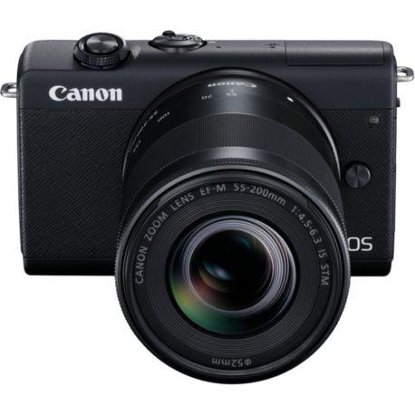 Appareil photo numérique CANON M200 Noir+EF-M 15-45mm+EF-M 55-200mm IS