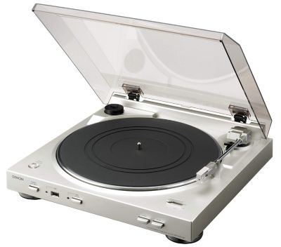 Platine vinyle Denon DP-200USB Silver
