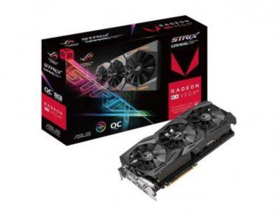 Carte graphique AMD Asus STRIX RX-VEGA64 O8G GM