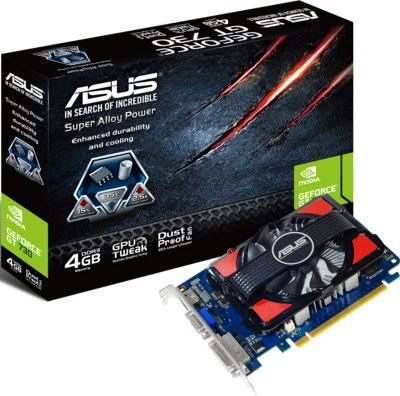 asus gt730 4gd3 4 go ddr3 pcie 2 0 carte graphique boulanger. Black Bedroom Furniture Sets. Home Design Ideas