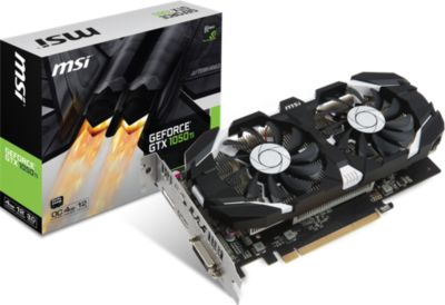 Carte graphique Nvidia MSI GeForce - GTX 1050 TI 4GT OC