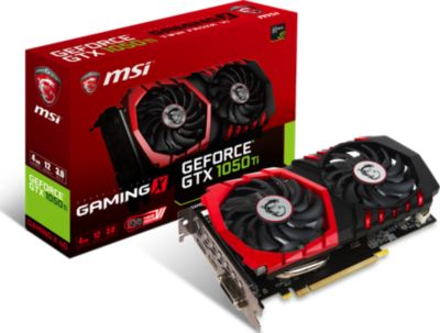 Carte graphique Nvidia MSI GeForce GTX 1050 TI GAMING X4G
