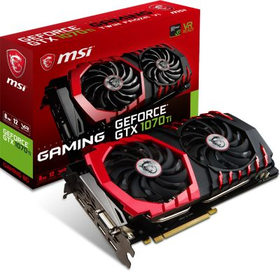 Carte graphique Nvidia MSI GeForce GTX 1070 Ti Gaming 8G