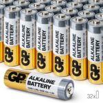 Pile GP Piles Alcalines LR6 AA x32