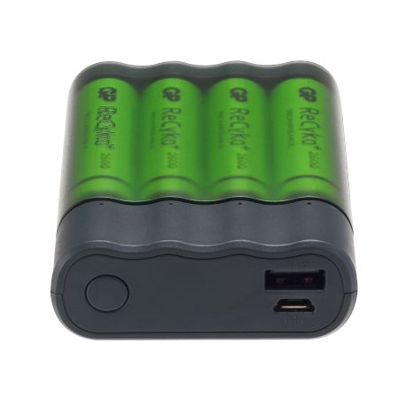 Chargeur GP Pilles AA / AAA + Appareils en USB