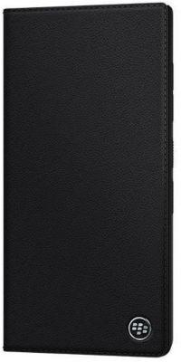 Etui Blackberry smart flip case cuir noir - keytwo le