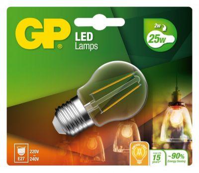 Lampe GP LED FILAMENT MGLOBE E27 2W-25W 078111-LD