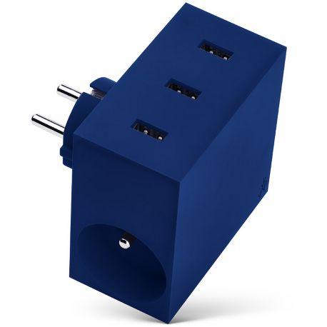 chargeur secteur usbepower 3 usb 2 gigognes bleu. Black Bedroom Furniture Sets. Home Design Ideas