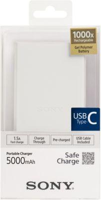 Batterie externe Sony blanc 5000 mAh Combo B- C CP-V5BWC