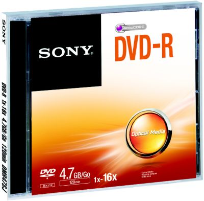 DVD vierge Sony DVD-R Jewel case 4.7GB X5