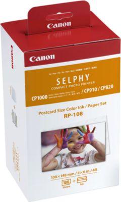 Cartouche d'encre Canon RP108N 108 feuilles 10x15 Selphy